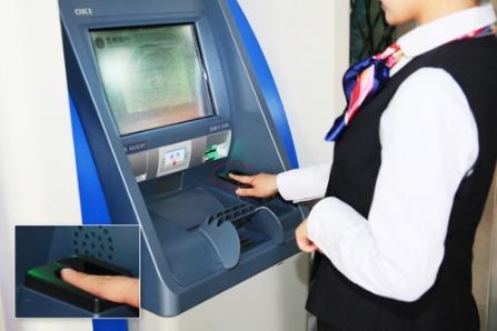 中國蘭州銀行採用OKI RG7 RATM 透過手指靜脈辨識認證客戶(圖片來源OKI Home Page)